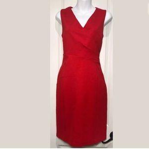 HALOGEN Sleeveless Ponte Sheath Fully Lined Dress